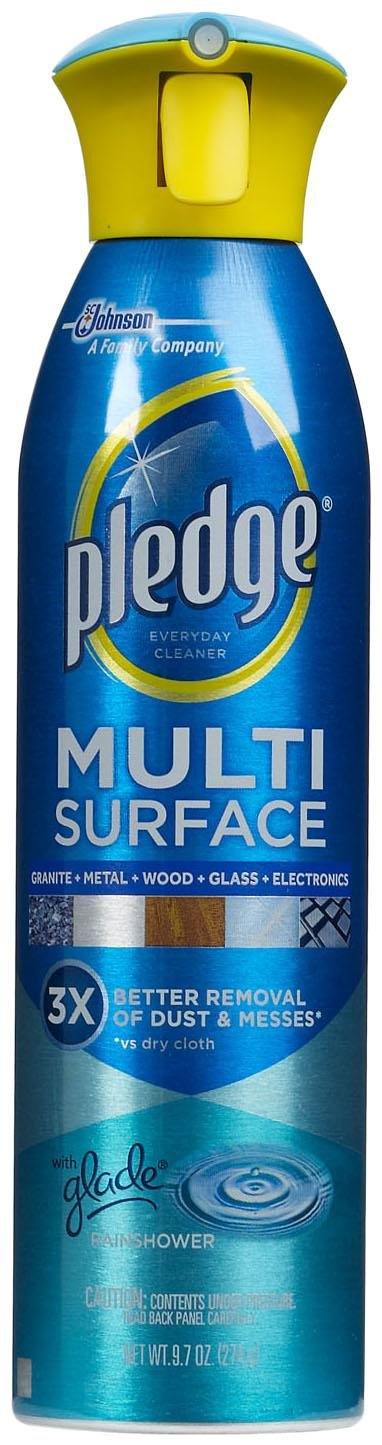 Pledge Cleaning Products 9.7 oz. Rain Shower Fresh Scent Multi Surface Multi Purpose Cleaner Aerosol (6-Pack) 72416