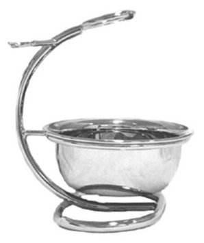 Swissco Nickel Stand Curved for Shave Brush, Razor & Bowl, 10.4-Ounce Box