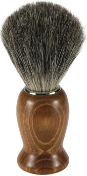 Swissco Badger Shave Brush, Dark Wood Handle, 4.2-Ounce Box