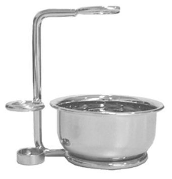 Swissco 6325-Stand Nickel Stand for Shave Brush Razor and Bowl