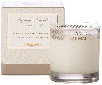 Round Vanilla Mandarin Candle, 9 oz. - Antica Farmacista - White
