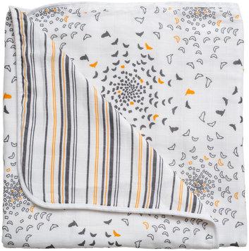 Bebe Au Lait Muslin Snuggle Blanket- Sparrow & Vintage Stripe