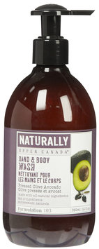 Upper Canada Soap Naturally Hand & Body Wash-Olive Avocado-12 oz