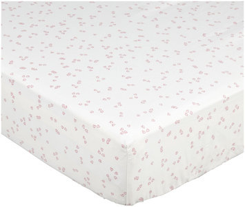 Auggie Crib Sheet - Flutter/Pink - 1 ct.