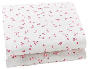 Auggie Change Pad Cover- Flutter/Pink