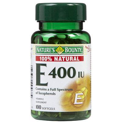 Nature's Bounty Natural Vitamin E 400 IU Softgels