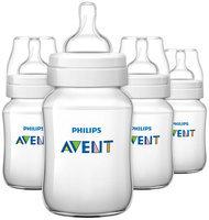 Avent BPA Free Classic Polypropylene Bottles - 9 oz - 4 ct