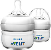Philips AVENT 2 Ounce BPA Free Natural Polypropylene Bottles 2-Pack