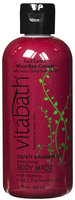 Vitabath Body Wash Wild Red Cherry 12 oz