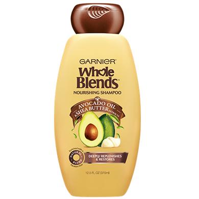 Garnier Whole Blends Avocado Oil & Shea Butter Extracts Nourishing Shampoo