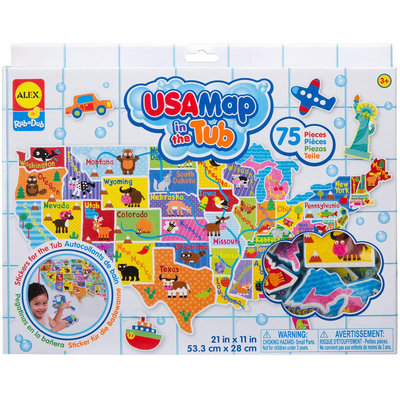Alex USA Map in the Tub Toy