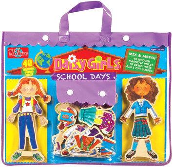 T.S. Shure Daisy Girls School Days Wooden Magnetic Dress-Up Dolls