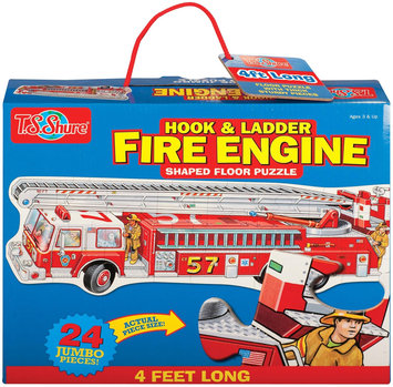 T.S. Shure Hook & Ladder Fire Engine Shaped Jumbo Floor Puzzle - 1 ct.