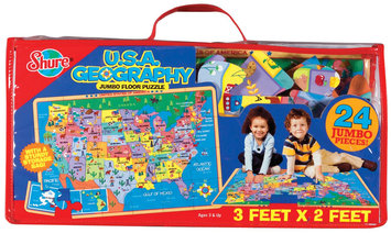 T.S. Shure Map of the U.S.A Jumbo Floor Puzzle