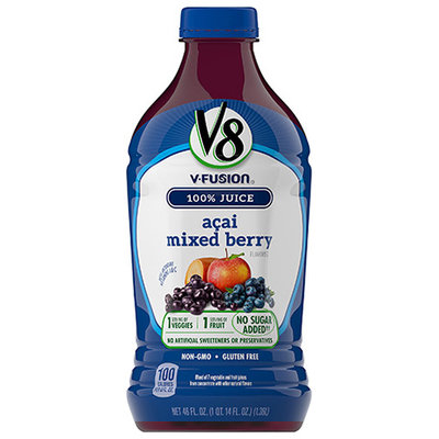 V8® V-Fusion 100% Acai Mixed Berry Vegetable & Fruit Blends