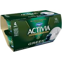 Dannon Activia Greek Blueberry Nonfat Yogurt