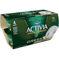 Dannon Activia Greek Nonfat Vanilla Yogurt