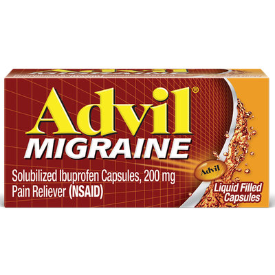 Advil® Migraine Liquid Filled Capsules