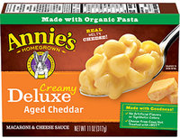 Annie's® Homegrown Creamy Deluxe Shells & Real Aged Cheddar Sauce Macaroni Dinner