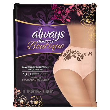 Always Discreet Boutique Incontinence Underwear Large