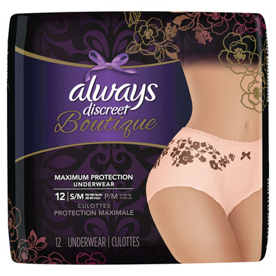 Always Discreet Boutique Incontinence Underwear Small/Medium
