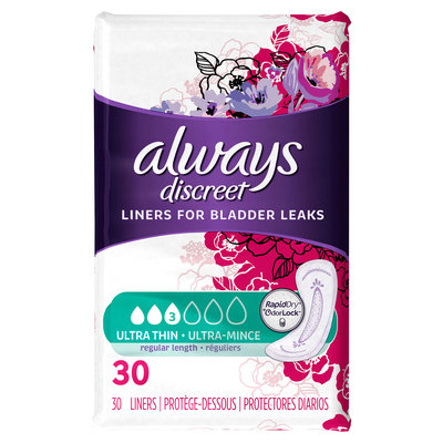 Always Discreet Ultra Thin Liners - Regular Length