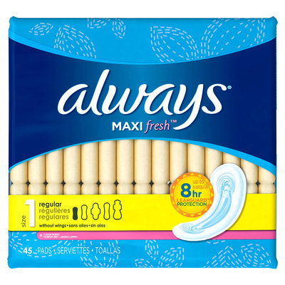 Always Maxi Fresh Size 1 Regular Pads without Wings Scented