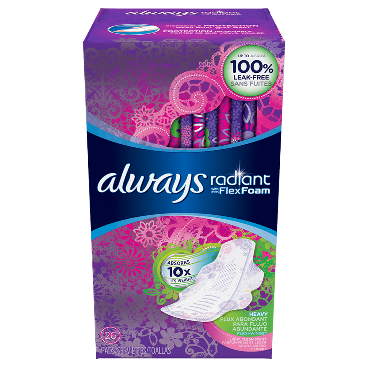Always Radiant Heavy with Wings Scented Pads