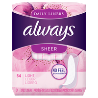 Always Sheer Daily Liners