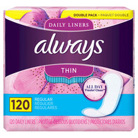 Always Thin Daily Liners