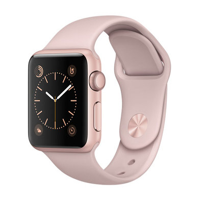 Apple Watch Series 1 Rose Gold Aluminum Case with Pink Sand Sport Band