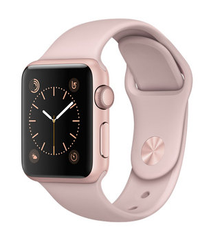 Apple Watch Series 2 Rose Gold Aluminum Case with Pink Sand Sport Band