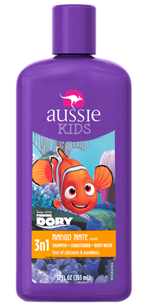 Aussie Kids Mango Mate 3n1 Shampoo Conditioner Body Wash