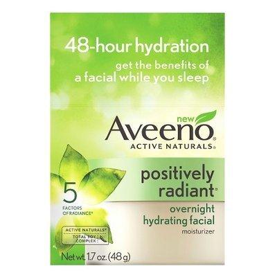 Aveeno Positively Radiant Overnight Hydrating Facial Moisturizer