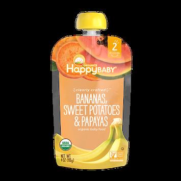 Happy Baby® Organics Clearly Crafted™ Bananas, Sweet Potatoes & Papayas