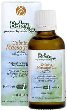 BabySpa Calming Massage Oil- 50ml-Stage One- 1.7oz, Fragrance Free