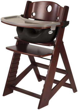 Keekaroo Height Right Mahogany Wood Infant High Chair