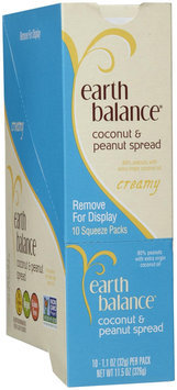 Earth Balance Nut Butter Spread Squeeze Packs, Creamy Coconut and Peanut - 1 ct.