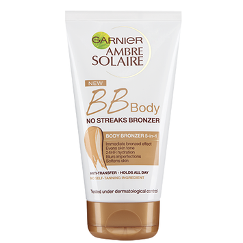 Garnier Ambre Solaire BB Body No Streaks Bronzer 5-In-1 Body Bronzer