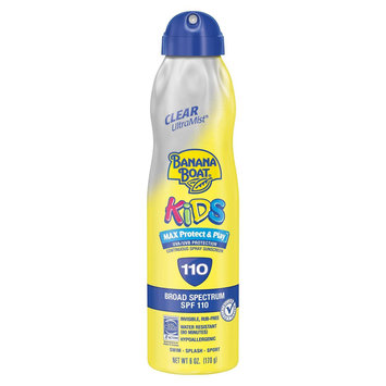 Banana Boat Kids Max Protect And Play Clear UltraMist Continuous Sunscreen Spray  With SPF 110