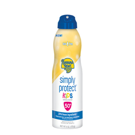 Banana Boat Simply Protect Kids Sunscreen Lotion Spray With SPF 50+