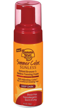 Banana Boat Summer Color Sunless Instant Bronzer And Sunless Tanning Foam