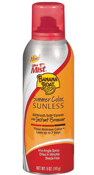 Banana Boat Ultra Mist Summer Color Sunless Airbrush Self Tanner With Instant Bronzer
