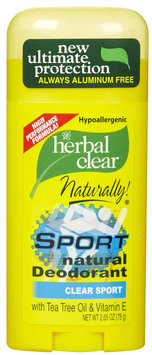 Herbal Clear Deodorant Stick, Sport 2.65 oz