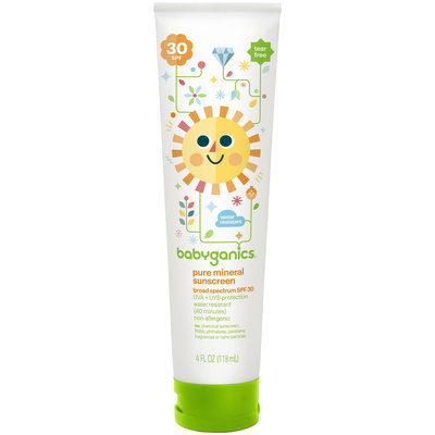 BabyGanics Cover Up Baby Pure Mineral Moisturizing Lotion - Fragrance Free - 4 oz -SPF 30