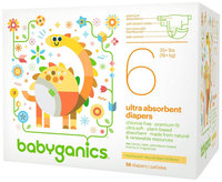BabyGanics Disposable Diapers Size 6 (58 Count)
