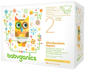 BabyGanics Disposable Diapers Size 2 (108 Count)