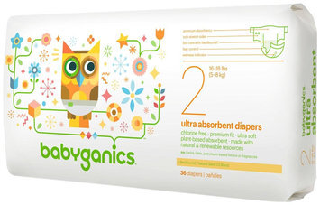Babies R Us BabyGanics Size 2 Ultra Absorbent Diapers - 36 count