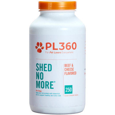 PetLabs360 Shed No More Tablets - Beef & Cheese - 250 ct