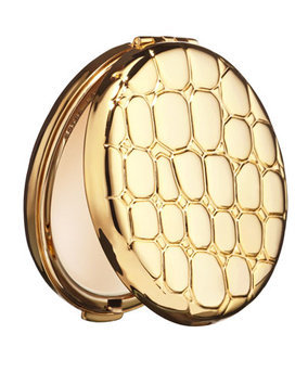Est e Lauder Lucidity Translucent Powder Slim Alligator-Embossed Metal Compact - Estee Lauder